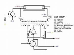 Simple 12v Compact Fluorescent Tube Ballast  Inverter Only