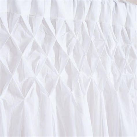 white smocked top curtain world market window
