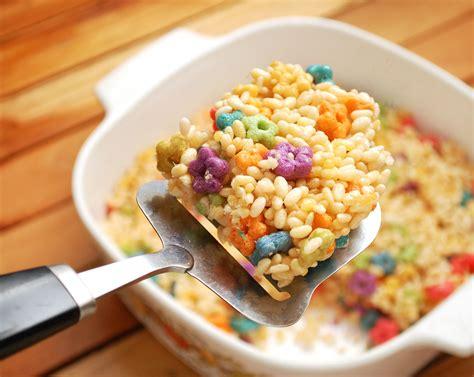 how to make rice crispy treats how to make fruit loop rice krispie treats 7 steps