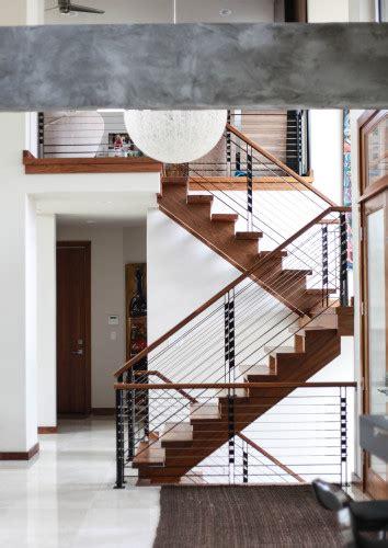 custom residential wood  steel railing  staircases