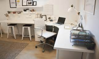 home office corner desk setup ikea linnmon adils combination office spaces desk
