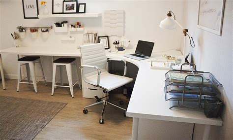 Ikea Corner Desks For Home Office by Home Office Corner Desk Setup Ikea Linnmon Adils