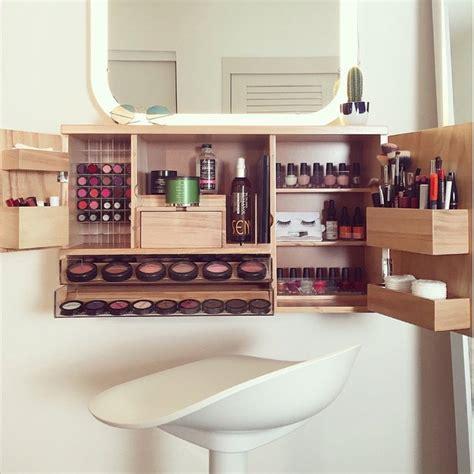 Acrylic Vanity Organizer by Wall Mounted Makeup Organizer Petagadget