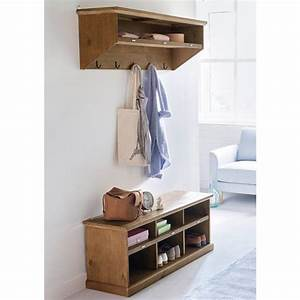 banc vestiaire en pin entree table de lit With meuble pour hall d entree 0 meuble dentree vestiaire pin blanc trendymobilier