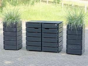 Holz Farbe Anthrazit : ber ideen zu m lltonnenbox auf pinterest m lltonnenhaus m lltonnenverkleidung und ~ Sanjose-hotels-ca.com Haus und Dekorationen
