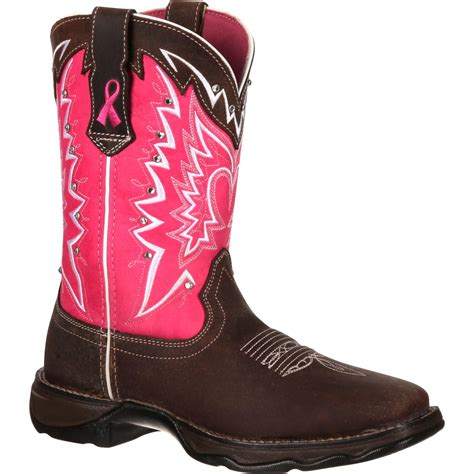 durango womens pink ribbon cancer benefit western boots