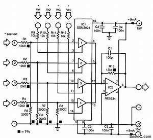 4 Channel Mixerv - Mixer - Audio Circuit