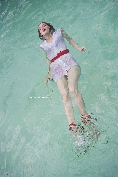 jenny  wetlook swim   sheer white dress csog