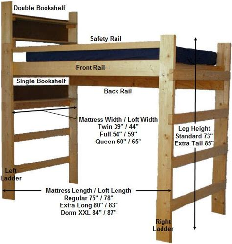 college dorm loft bed plans easy woodworking plans