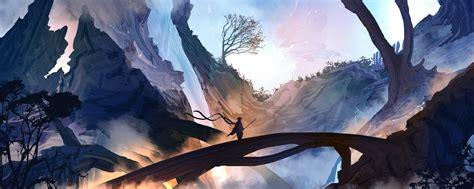 fantasy art, Mountains, Mist, Samurai Wallpapers HD ...