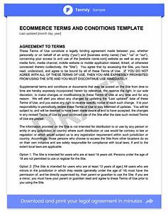 terms conditions templates samples download for free With mobile app terms and conditions template