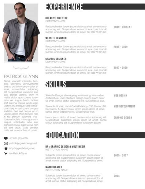 top 10 creative resume templates for web designers 推酷
