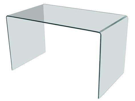 but bureau verre bureau design en verre courbé transparent d 39 un seul tenant meubles bois massif