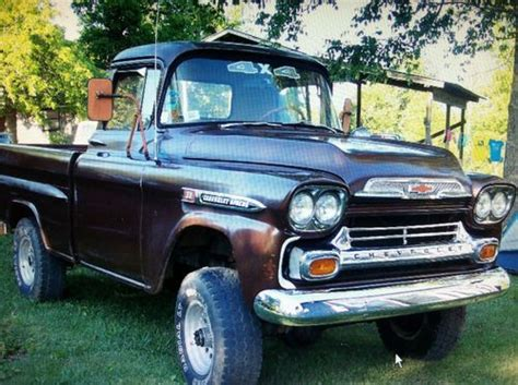 Find New 1959 Chevrolet Apache 3100 Napco 4x4 Extremely