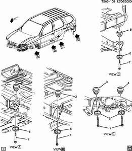 Chevrolet Trailblazer Cushion  Body To Frame Mounting