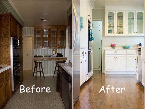 ideas for galley kitchen makeover before and after kitchen makeover 7396