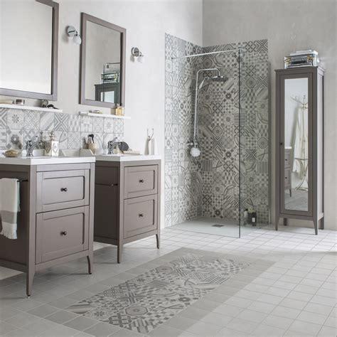 accessoire rangement cuisine carrelage sol et mur gris décor elliot l 15 x l 15 cm