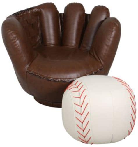 kids baseball chair and ottoman crown mark baseball glove chair ottoman homemakers