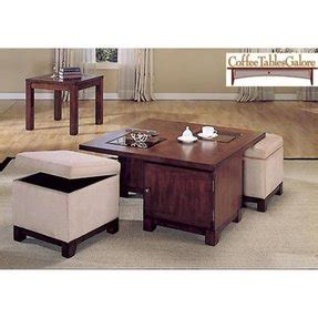 The ottomans not only provide a ton of toy storage but they also roll out and double as extra seating! Coffee Table With Pull Out Ottomans - Foter