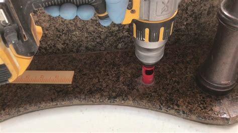 drill granite countertop how to drill a through granite kitchen sink