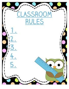 classroom rules template classroom rules template by hallmark teachers pay