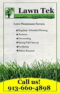 lawn care flyer template free the best template ideas With landscaping flyers templates
