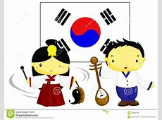 Korea Culture and Flag stock vector Image of culture