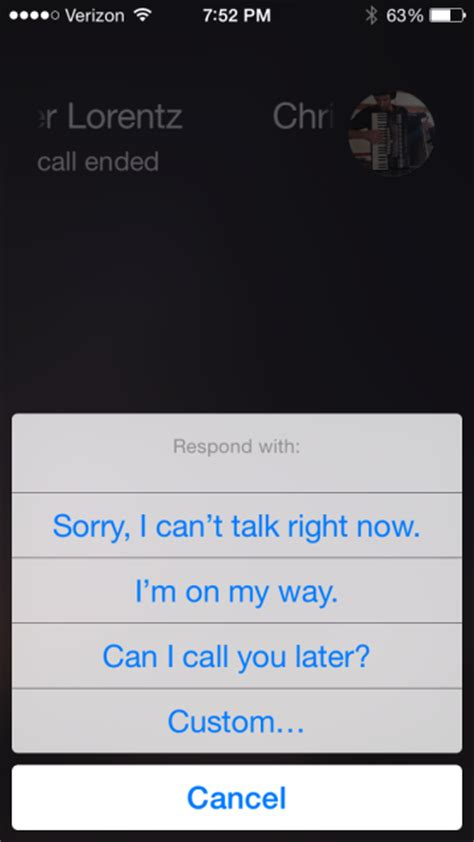 iphone auto reply text how to auto reply to a phone call with a text on the iphone