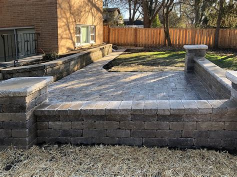 Paver Brick Wall by Landscaping And Hardscaping Brick Work Paver Patios