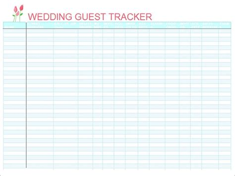wedding guest list samples   word