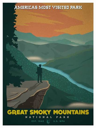 National Park Smoky Mountains Posters Poster Wpa