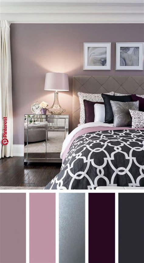 elegant silver plum  lavender palette bedroom