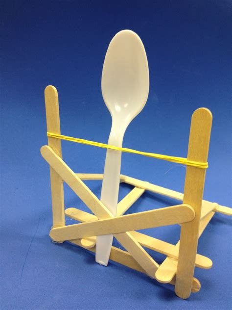 rubber sculpture block popsicle stick catapult