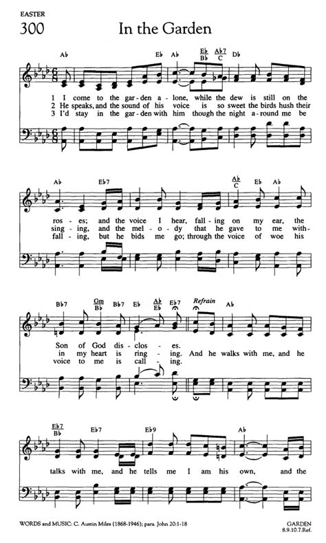 in the garden hymn worship and rejoice page 323 hymnary org