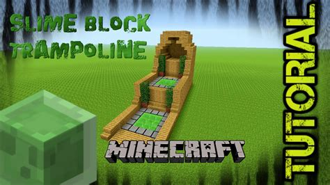 minecraft slimeblock trampoline tutorial ps xbox
