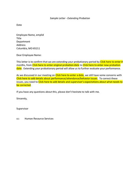 Employment Probation Letter Template best photos of new hire probation period letter employee