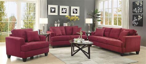 samuel red living room set  coaster coleman furniture