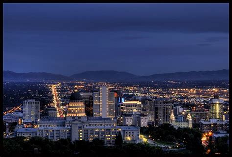 downtown salt lake city lights utah