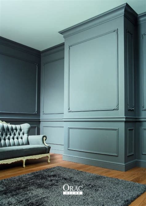 décoration chambre à coucher inspirations moulures murales décoratives habitatpresto