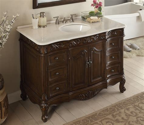 42 Inch Bathroom Vanity With Marble Top by Adelina 42 Inch Antique Bathroom Vanity Fully Assembled