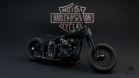 Bad Ass Harley Bobber Studio 022a By Francozero On Deviantart
