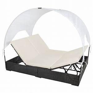 Doppel Gartenliege Mit Dach : doppel garten lounge liege poly rattan mit dach sonnenliege gartenliege schwarz ebay ~ Bigdaddyawards.com Haus und Dekorationen