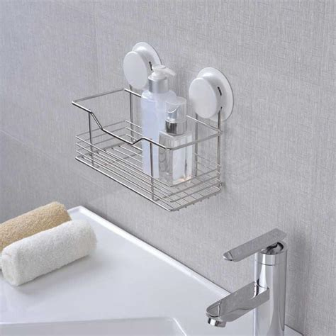 suction cup adhesive wall mounted stainless steel plastic