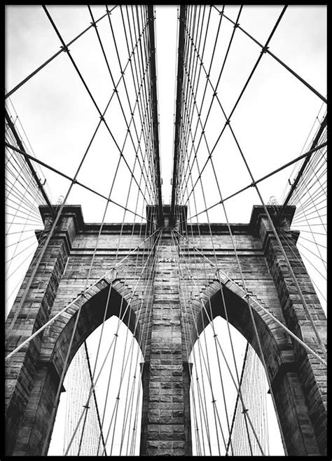Poster With Photo Art, Brooklyn Bridge  Posters With