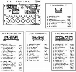2007 Toyota Radio Wiring Pin Diagram