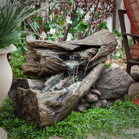 rustic garden features 20 solar water fountain ideas for your garden garden lovers club