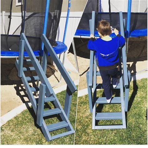trampoline ladder  rails ryobi nation projects