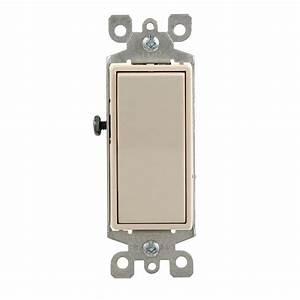 Leviton Decora 15 Amp 3-way Illuminated Switch  Light Almond-r76-05613-2ts