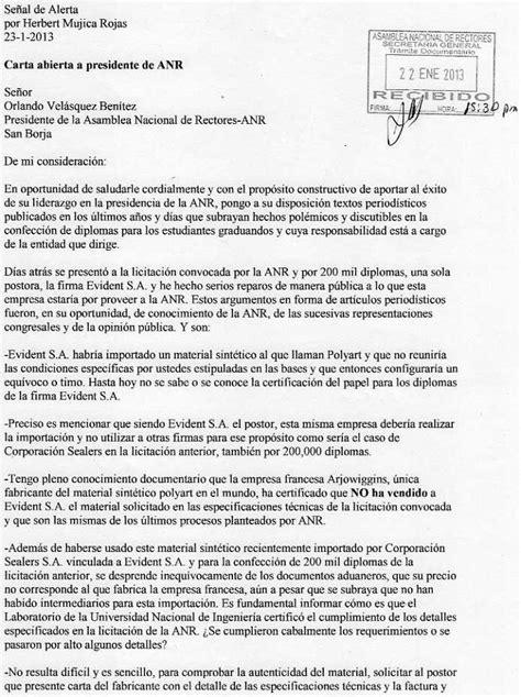 Carta Abierta A Presidente De Anr  Argentina Indymedia