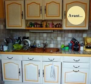 avant apres renover sa cuisine en 2 week end With refaire cuisine en bois